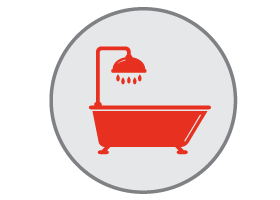 shower and tub services icon