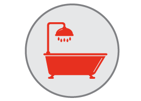shower replacement icon