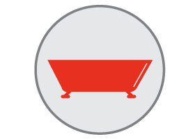 bathtub repair icon