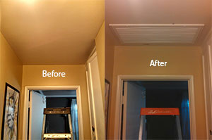 before and after picture of new HVAC system
